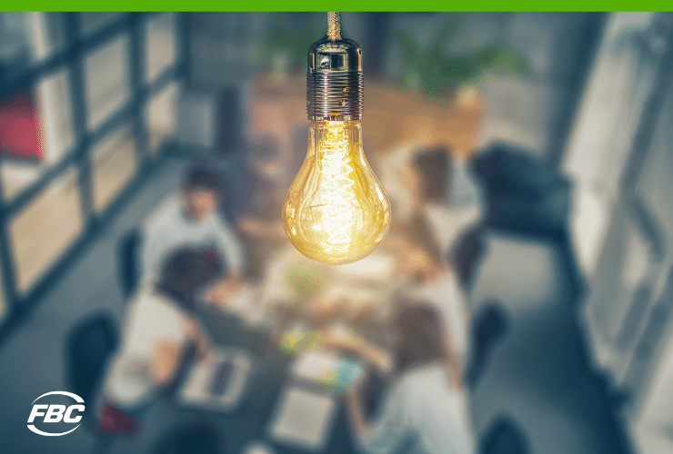 benefits of incorporating business office with light bulb as an idea generator