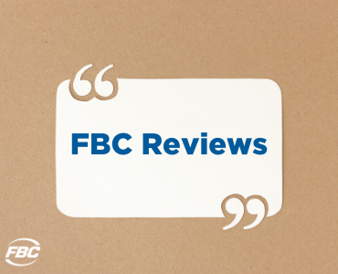 A sign that says FBC Reviews on it