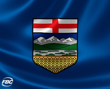 a picture of Alberta's provincial flag