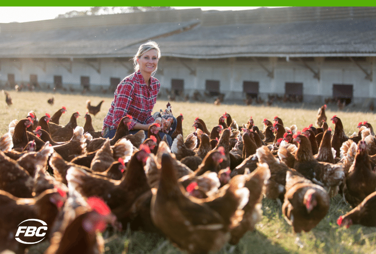 female poultry farmer